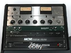 Argosy Halo Desk w Ampex AM-10 Mixers, Altec 1598b Mic Pre, Patchbays, M&K LFE-4