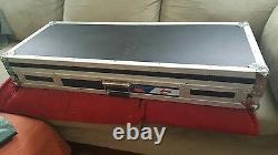 Audio Dynamics Flight Case for 2 Turntables/Mixer/CD/Sound board/IPAD adjustabl