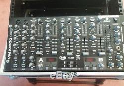 Behringer VMX1000 USB 7 Channel Rack Mount DJ Mixer with flight case