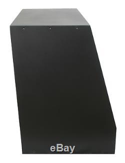 Black 8u angled 19 inch wooden rack unit/case/cabinet for studio/DJ/recording
