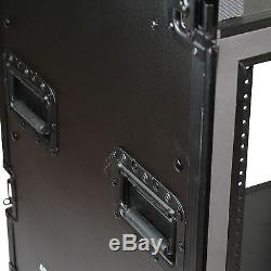 Blastking 12U Vertical Shock-mount Audio Amp Rack Black with Wheels ARW12U