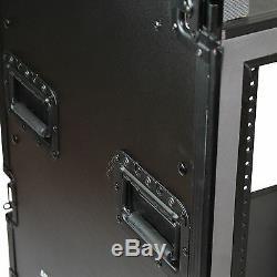 Blastking 16U Vertical with 10U Slant Top Shock-mount Rack Black with Wheels