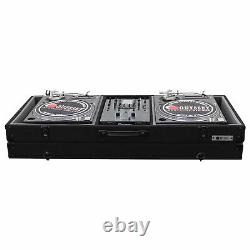 Carpeted Case Fits Most 10 Format Dj Mixers & 2 1200 Style Turntables In Bat