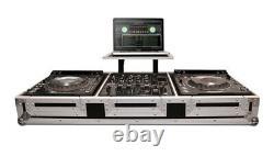Coffin For 2 X Pioneer CDJ2000 Nexus/DVJ1000CD Players & 10 Mixer With Wheels
