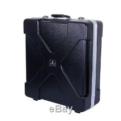 Crossrock Molded ABS Carrying Case for Rack Mountable Mixer Up to 12U