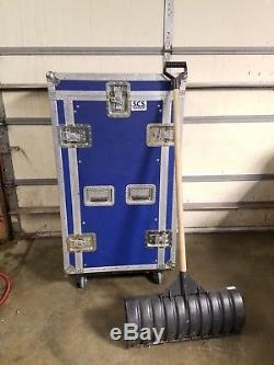 Custom Anvil Case with 30U rack for networking or audio equiptment setups
