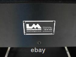 Custom Shock Mount Rack Road Case Mixer Setup Shelf front/Rear Doors 36Hx28Wx30D