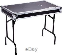 DEEJAY LED TBHTABLE Fly Drive Case Universal Fold Out DJ Table 36-Width x