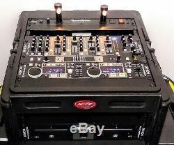 DENON DN-D4500 DUAL MP3 / DN-X500 MIXER/ Rack Rider RR-15 & SKB DJ CASE