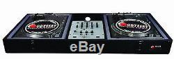 DJ Battle Turntable & Style Mixer Equipment Audio Coffin Music Sound Club Mixing