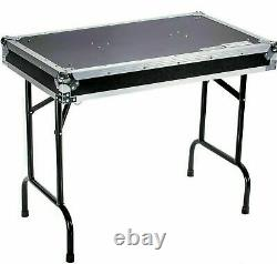 Deejay LED TBHTABLE DJ Table with Locking Pins 36W x 21D x 30H in Black