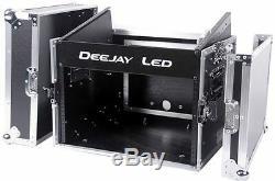 Deejayled TBHM806E 8u Slant Mixer Rack 6u Vertica