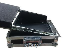 Denon Dn-MC6000 Midi Laptop Rack Shelf PCDJ Mixer DJ Swan Flight Case (Hex)