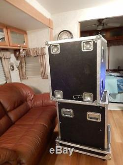 FLY ANVIL 12-Space Shock Mount Road Rack ATA flight with wheels