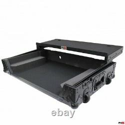 Flight Case For Pioneer DDJ-1000 and SRT Sliding Laptop Shelf Wheels Black