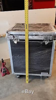 Flight Road Case DJ Instrument Utility Trunk Case Rolling Caster Kit Stackable