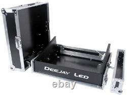 Fly Drive Case 8u Space Slant Mixer Rack