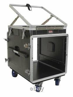 Gator Cases ATA Molded Console Rack Case, 12U Pop Up Top & 10U Side New