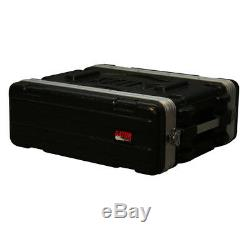 Gator Cases GR-3S 3U Molded Pe Audio Rack Case Shallow 19 In. Deep & Locking New