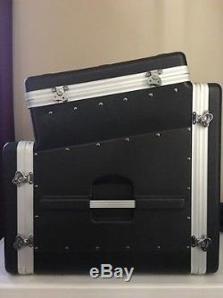 Gator Cases GRC-10X8 Slanted Top Audio Console Rack Molded Case 10U 8U Excellent