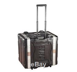 Gator Cases GRR-10L Molded Pe Travel Rack Case Heavy-Duty With Portable Wheels New