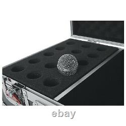 Gator Cases GTOURM15 ATA Wood Road Case with Drops for 15 Mics & Accessories