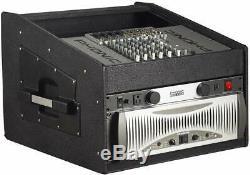 Gator Cases Lightweight 10U Top, 4U Side Wood Console Audio Rack, Black New