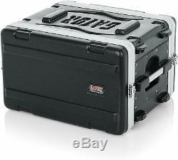 Gator Cases Lightweight Molded 6U Audio Rack Shallow, Black New