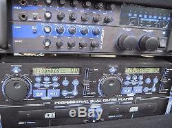Gem Sound Mixer Amplifier Rack Case VocoPro Karaoke DA 3700 Pro CDG 8800 CD Deck