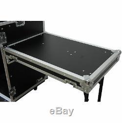 Harmony HC11M16UCT Flight 11U Slant Top Mixer Case 18U Vertical Rack with Table