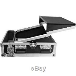 Heavy Duty 2 Space ATA Rack Case with 10U DJ Mixer Top and Laptop Shelf