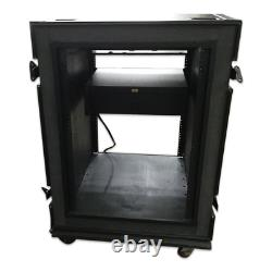 JAN-AL Universal ATA 19 Rack mount Travel Road case with drawer & Furman PL-8C li