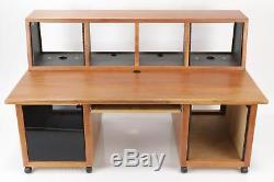 KK Audio Recording Studio Wood Workstation Rack Case Desk Console #34348