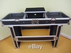 Konsole f. 2 Plattenspieler + 19 Mixer + Laptopablage und Tisch Digital-DJ-Case