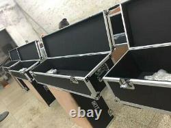 Large, Long Flight Case for heavy equipment with wheels