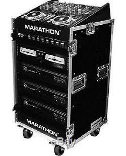Marathon Flight Road Case MA1016WE 10u Slant Mixer Rack/16 U Vertical Rack Syste