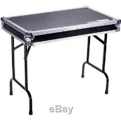 Marathon Universal Fold Out DJ Table, Black (37x22x30 Opened Size) #TBHTABLE