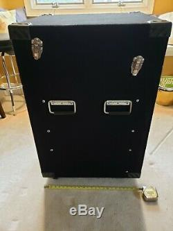Mars Cadence 12U Rack Case with Slant Mixer Top and Casters, 8U Rails in Rear