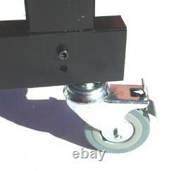 Metal Frame Audio Rack Case Stand WHEELS 9U (19 inch) + 12U Top Mixer Space