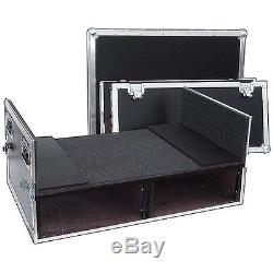 Mixer Rack ATA Case Dual 4 Sp Bottom Behringer X32 Std, Soundcraft SI, Etc