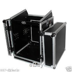 Mixer Rack T-14mrss Combo Amp 14u 10u Slant Top Flight Case Dj Band Club Road