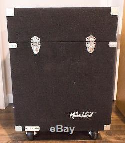 Music Land Felt Mixer / 8U Rack Case on Wheels 21 X 25 X 20.5 Slant Top
