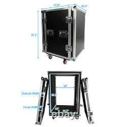 Musical 19 16U Space Rack Double Layer Double Door DJ Equipment Cabinet Case