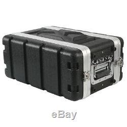 NEW 4RU Portable Music Equipment 19 Rack Mount Case. Shallow Mount Depth. PA. DJ