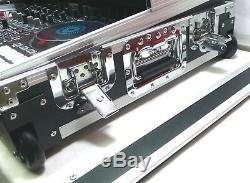 NEW! LASE ATA Style Flight Case For Denon MC -7000 with Glide & Wheels