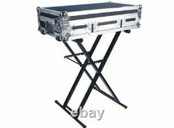 NEW! Odyssey LTBXS Portable Pro DJ Coffin Mixer Keyboard X-Stand with Rubber Pads