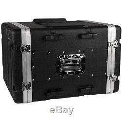 NEW PA 8RU Equipment Rack Mount Flight Storage Case. Concert. 19 Depth. Stage. 8U