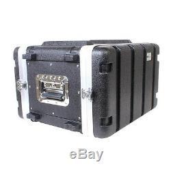 NEW PA DJ 6U 19 Equipment Rack Mount Flight Storage Case. Concert. 6RU. 12 depth