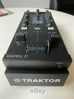 Native Intruments Traktor Kontrol Z1 2-Channel DJ Mixer Controller and Rack/Case
