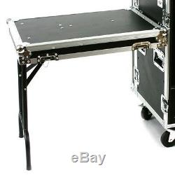New 16 Space ATA Mixer Amp Rack OSP Case with Top Mount & wheels 16U 12U on top